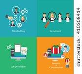 team building human resource... | Shutterstock .eps vector #410308414