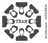 team icon vector.  | Shutterstock .eps vector #410308834
