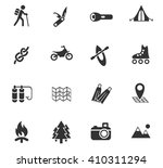active recreation web icons for ... | Shutterstock .eps vector #410311294