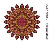 round mandala. arabic  indian ... | Shutterstock .eps vector #410312590