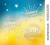 summer time holidays lettering... | Shutterstock .eps vector #410313250
