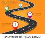 road way location infographic... | Shutterstock .eps vector #410313520