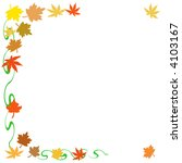 colorful autumn leaves falling  ... | Shutterstock . vector #4103167