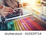 website designer working... | Shutterstock . vector #410329714