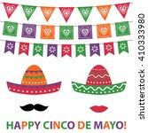 cinco de mayo party decoration... | Shutterstock .eps vector #410333980