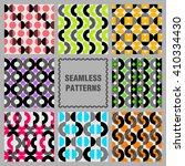 set of bright geometric... | Shutterstock .eps vector #410334430