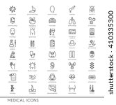 vector line icons with medical... | Shutterstock .eps vector #410335300