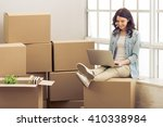 attractive young woman is...   Shutterstock . vector #410338984