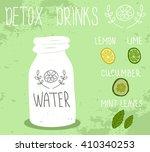 healthy life  detox drink.... | Shutterstock .eps vector #410340253