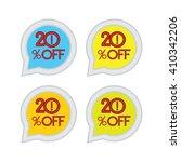 20 percent of speech bubble...   Shutterstock .eps vector #410342206