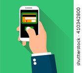 mobile payment credit card hand ... | Shutterstock .eps vector #410342800