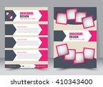 abstract flyer design... | Shutterstock .eps vector #410343400