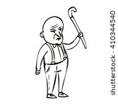 old angry man with walking...   Shutterstock .eps vector #410344540