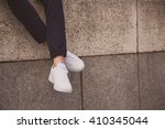 Young Fashion Man's Legs With...