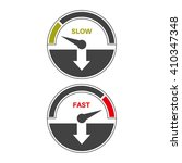 Set Of Icons Of A Speedometer...