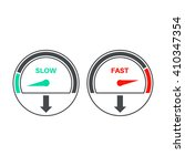 set of icons of a speedometer... | Shutterstock .eps vector #410347354