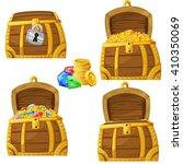 illustration of cartoon chest... | Shutterstock .eps vector #410350069