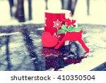 cup on winter street | Shutterstock . vector #410350504