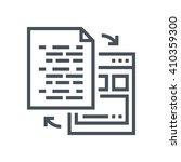interface integration icon... | Shutterstock .eps vector #410359300
