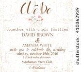 wedding invitation. vector...   Shutterstock .eps vector #410362939