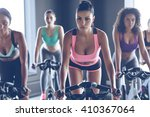 up to speed with their fitness... | Shutterstock . vector #410367064