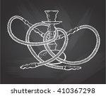 shisha  hookah hand drawn... | Shutterstock .eps vector #410367298
