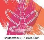 shisha  hookah hand drawn... | Shutterstock .eps vector #410367304