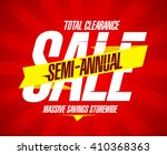 semi annual sale banner  total... | Shutterstock .eps vector #410368363