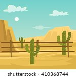 desert. vector flat cartoon... | Shutterstock .eps vector #410368744