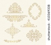 vector decorative frame. set... | Shutterstock .eps vector #410369338