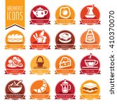 breakfast icon set | Shutterstock .eps vector #410370070