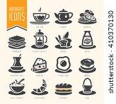 breakfast icon set | Shutterstock .eps vector #410370130