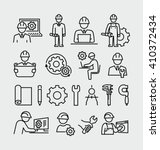 engineering vector icons set  | Shutterstock .eps vector #410372434