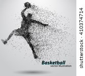 basketball player of particle.... | Shutterstock .eps vector #410374714