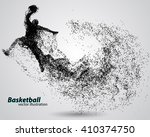 basketball player of particle.... | Shutterstock .eps vector #410374750
