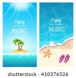 summer holidays banners  ... | Shutterstock .eps vector #410376526