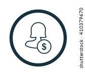female user earnings icon