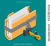 unlock folder secure data file... | Shutterstock .eps vector #410381416