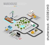 warehouse infographics storage... | Shutterstock .eps vector #410381443