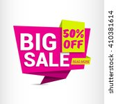 big sale. sale banner design.... | Shutterstock .eps vector #410381614