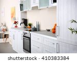 new modern kitchen interior | Shutterstock . vector #410383384