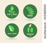 set of organic eco bio... | Shutterstock .eps vector #410385043