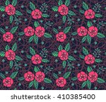 roses pattern. small pink... | Shutterstock .eps vector #410385400