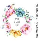 beautiful watercolor round...   Shutterstock . vector #410390146