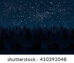 vector background. starry night ...   Shutterstock .eps vector #410392048