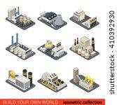 power energy plant factory... | Shutterstock .eps vector #410392930