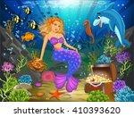 Mermaid Sitting On A Rock...
