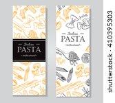 vector vintage italian pasta...   Shutterstock .eps vector #410395303
