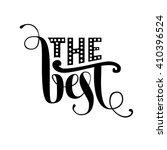 the best lettering. vector... | Shutterstock .eps vector #410396524