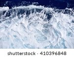 Restless Foamy Blue Sea Water...